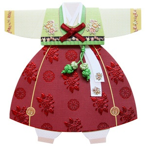 Korean hanbok pattern for quilt block