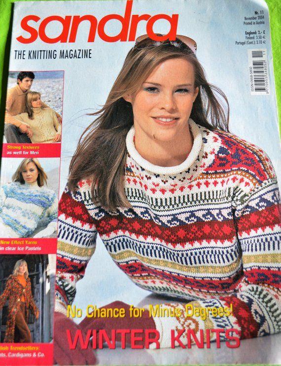 Sandra The Knitting Magazine November 2004 Knitting Magazine