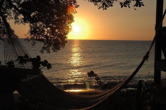Hammock at sunset by markarc, via Flickr
