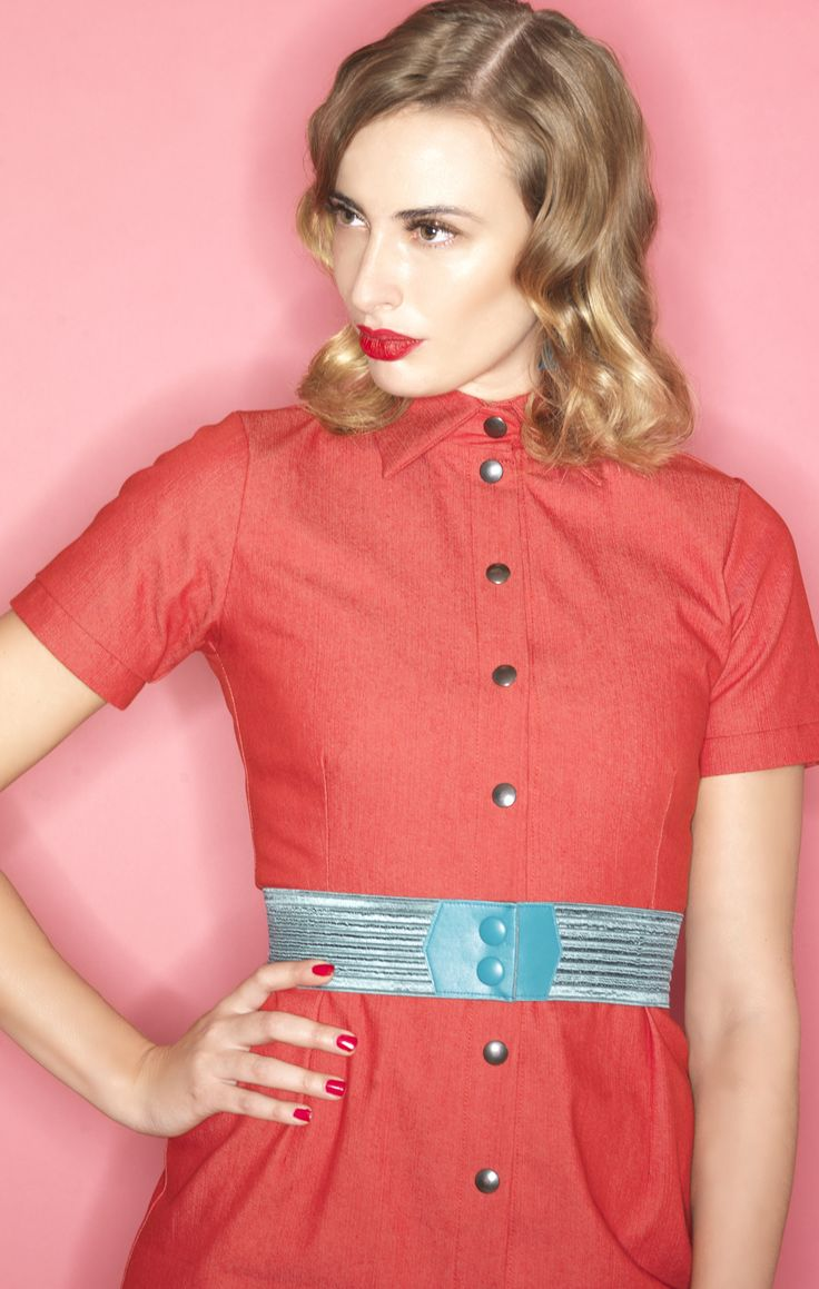 Can't wait to put on this fabulous red denim dress. Will be in stores from February 2015 <3