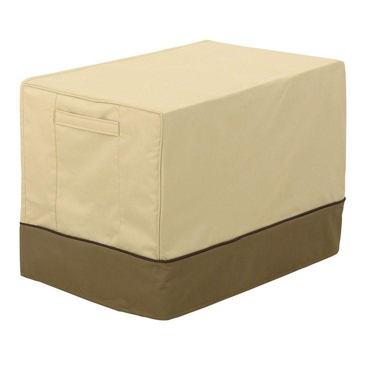 Classic Accessories Veranda Medium Window Air Conditioner Cover, Beig/Green (Beig/Khaki)