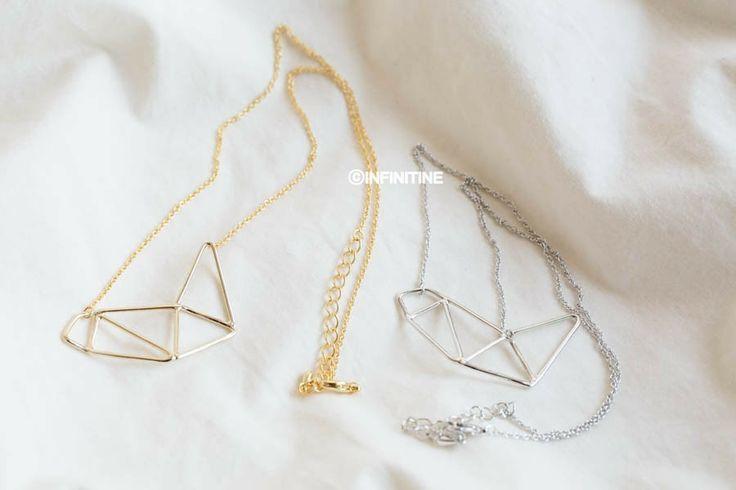 geometric triangle necklace,N162K