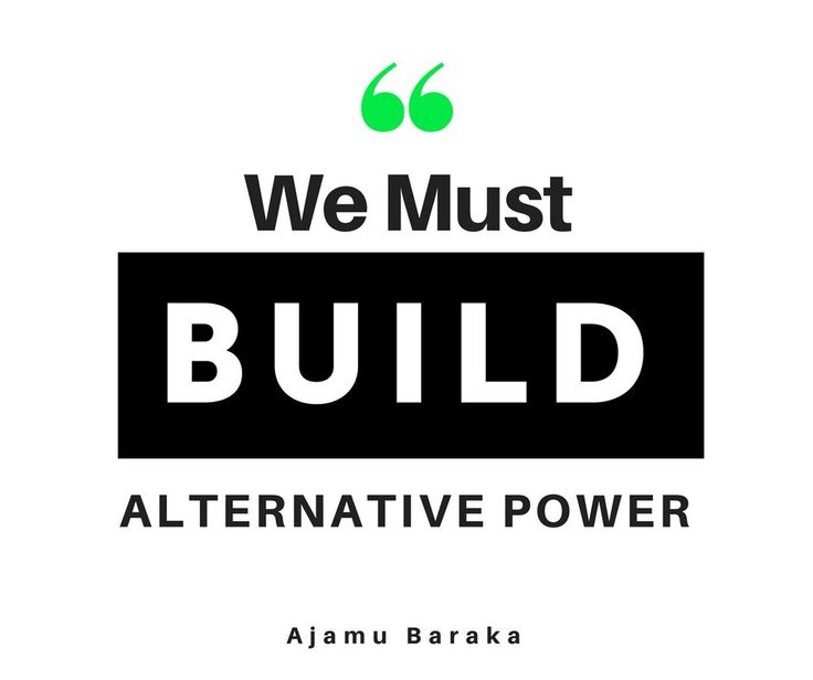 """How do we build independent, alternative, popular power?...We must build structures, & the Green Party is there."" -Ajamu Baraka #GreenEnter   --   Dr. Jill Stein (@DrJillStein) 