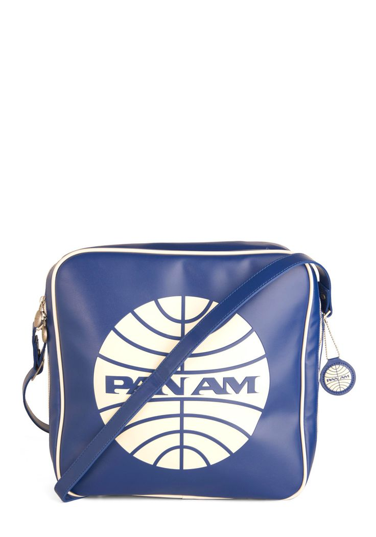 Pan Am Cabin Bag | Mod Retro Vintage Bags | ModCloth.com: Vintage Bags, Faux Leather, Airline Cabin, Retro Vintage, Blue Prints, Modcloth Com
