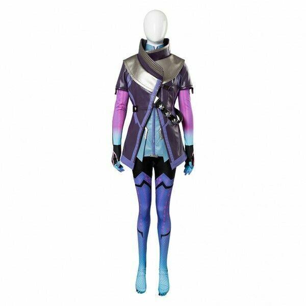 Overwatch Sombra Hacker Purple Jacket Dress Uniform Cosplay