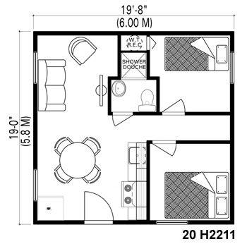 Laprise Habitaflex affordable housing.| Maison Laprise - Prefabricated Homes Housing Unit LAP0504