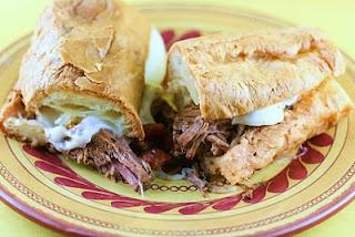 slow cooker - italian beef sandwiches