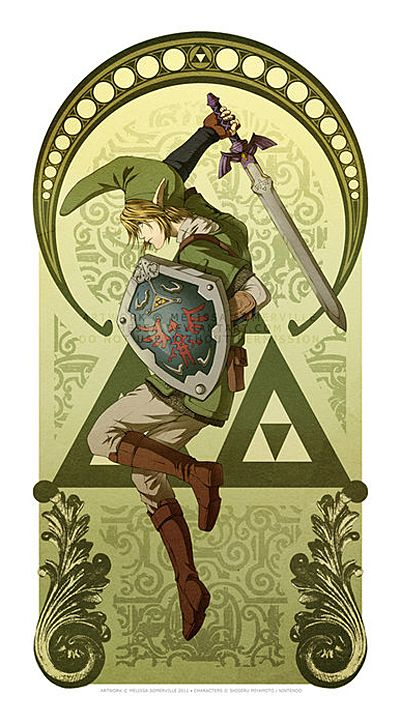 Art Nouveau Link is apparently not an original idea from me....but maybe i can do it better? doubtful.