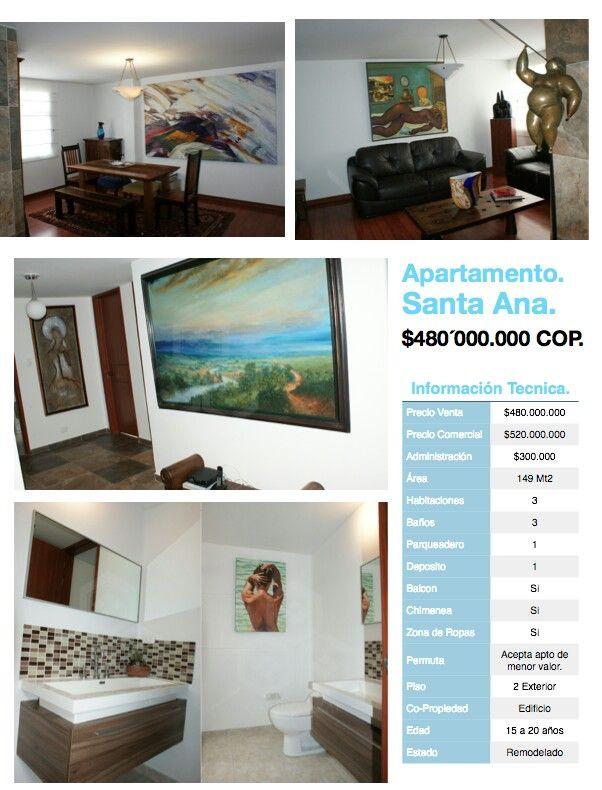 Apartamentos en venta Santa Ana, Usaquen, Bogotá, Colombia. Informes Marco Quijano 320 325 5311 maquijano@grupoazai.com