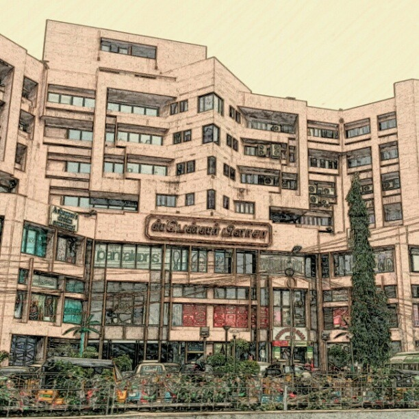 Spencer Plaza. An older mall and the first mall in India