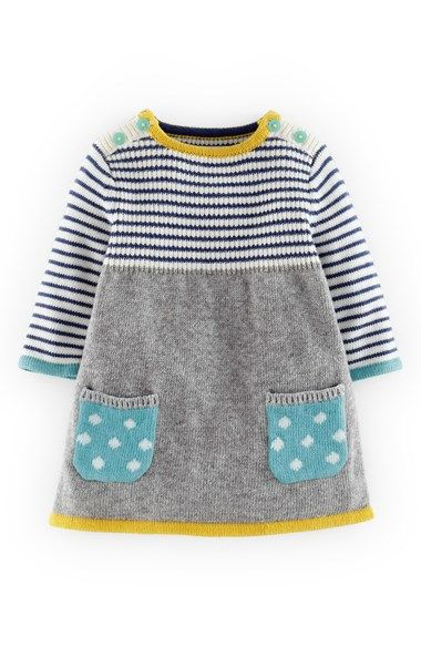 Mini Boden Sweet Knit Sweater Dress (Baby Girls)