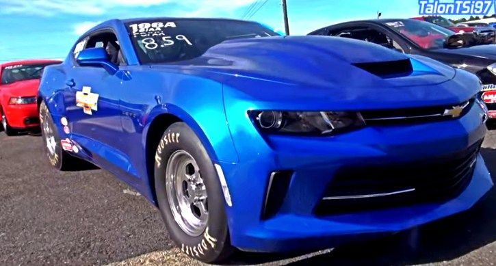 Watch the Blue Screamer III Chevy Copo Camaro screaming down the Atco Raceway and scoring 8-seconds on the 1/4 mile each pass.
