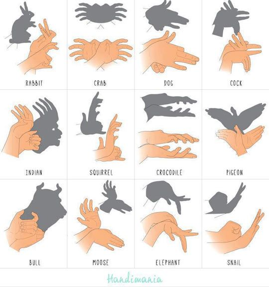 Sombra com as mãos!