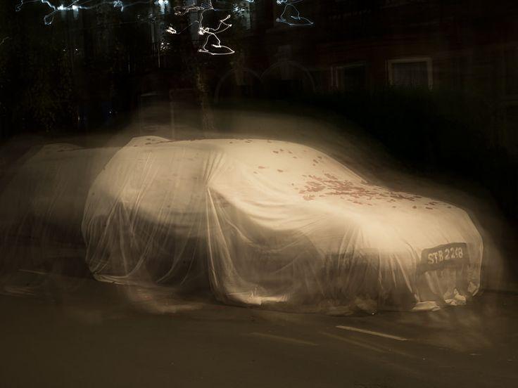"""Artista: Sayed Hasan, """"El fantasma del carro de mi abuelo"""", del proyecto """"El carro de mi abuelo"""", fotografía digital impresa  a color, 2014."""