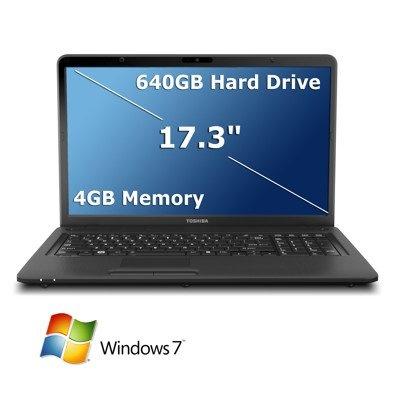 "Toshiba Satellite C675 Series 17.3"" Laptop with AMD AMD Dual Core E-300 Accelerated Processor, 4GB DDR3, 640GB HDD, Webcam, WiFi, DVD Reader/Writer, Windows 7 Home Premium 64-Bit $459.99"