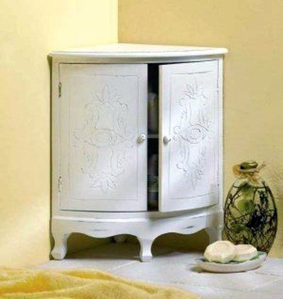 First Rate Corner Bathroom Cabinet With Light And Shaver Socket Only In Timesdecor Com Corner Storage Cabinet Shabby Chic Bathroom Storage Cabinets
