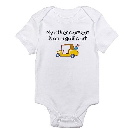 baby golf pictures | ... Babies Kids & Baby > My Other Carseat is on a Golf Cart Infant Creeper