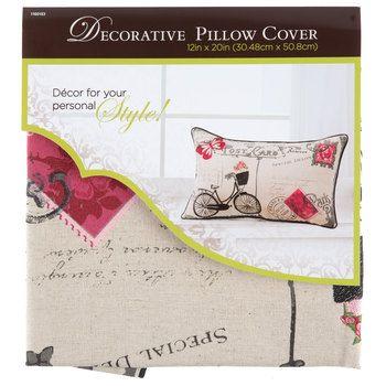 Ahoy Natural Pillow Cover