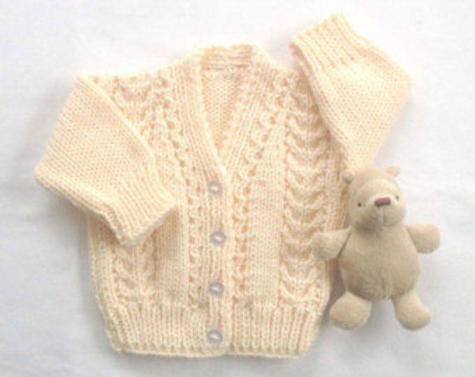 Regalos de Baby cardigan - 6 a 12 meses - bebé - del knit del bebé - ropa de niño ropa - géneros de punto bebé