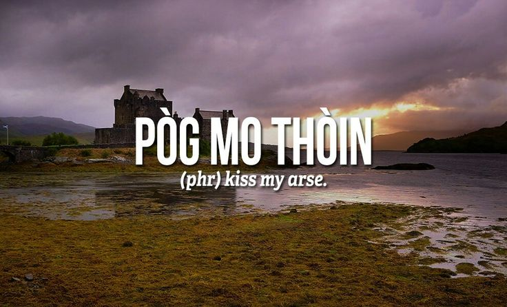 Sweary Scottish Gaelic Words - I will learn this one!