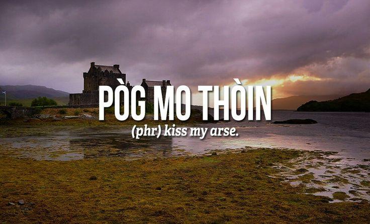 Sweary Scottish Gaelic Words