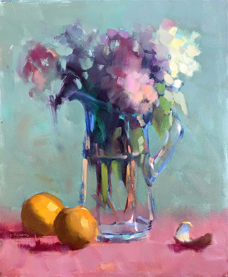 Glass Pitcher by Trisha Adams Oil ~ 20 x 16