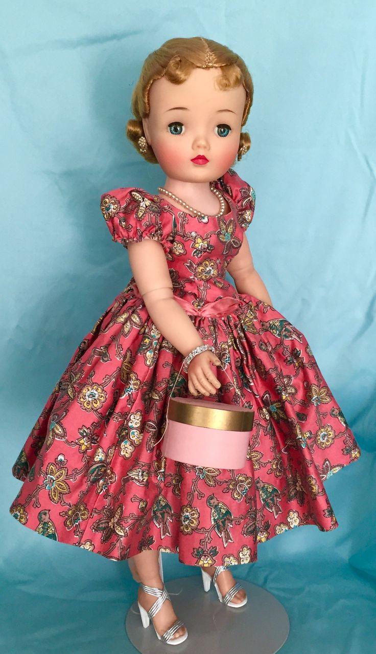 1957 VHTF coral bird dress