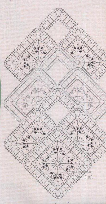 nastro di pizzo 6 - schema di lavoro a maglia