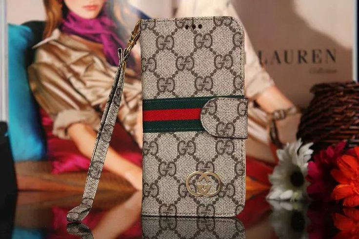 Leather Gucci Galaxy S7 Case Wallet Brown