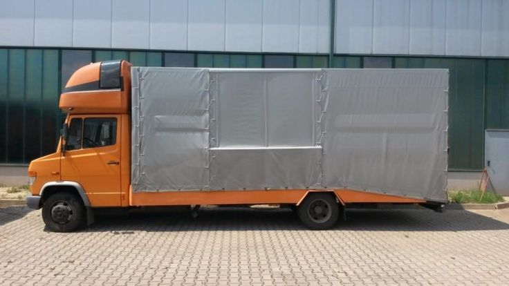 Mercedes-Benz 815 Vario geschlossener Autotransporter TÜV