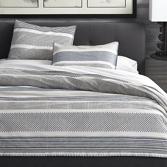 Medina King Duvet Cover in All Bedding | Crate and Barrel