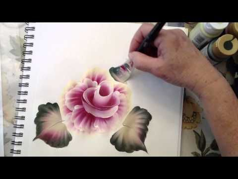 ▶ One Stroke Painting: How To Use the Angle Brush.m4v - YouTube