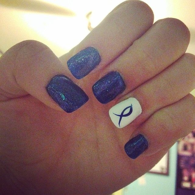 Cool idea to show your support for colon cancer!