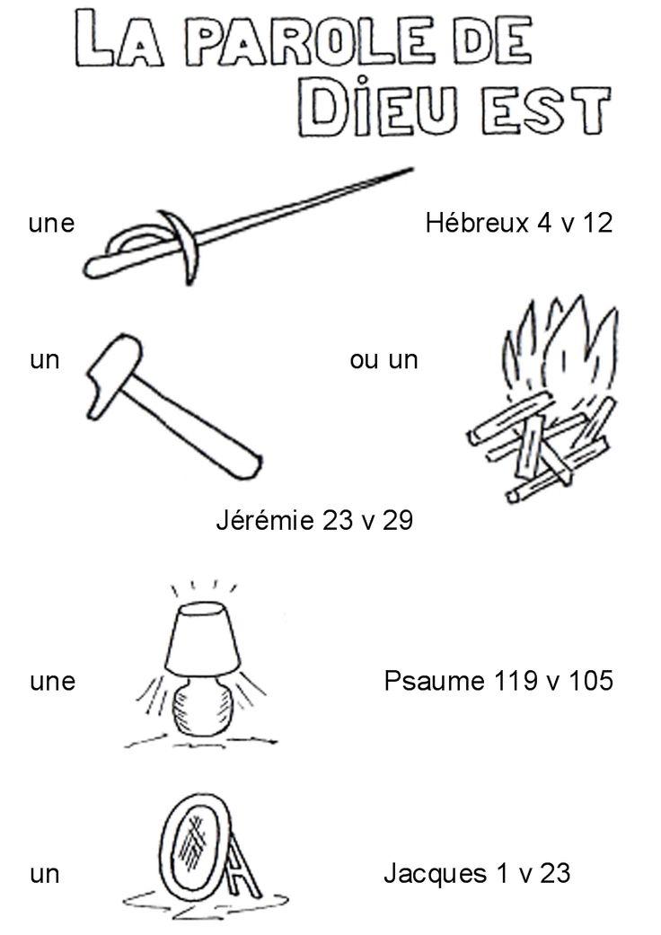 des rébus pour les enfants sur quelques versets bibliques