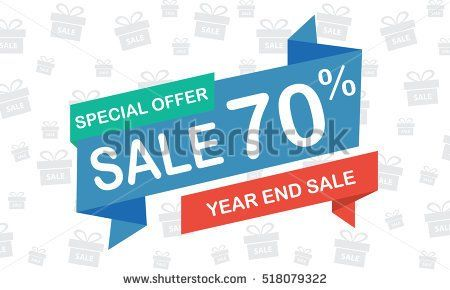 sale seventy percent year end sale