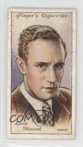 1934-Players-Film-Stars-Series-2-Tobacco-Base-26-Leslie-Howard-Card-0d8