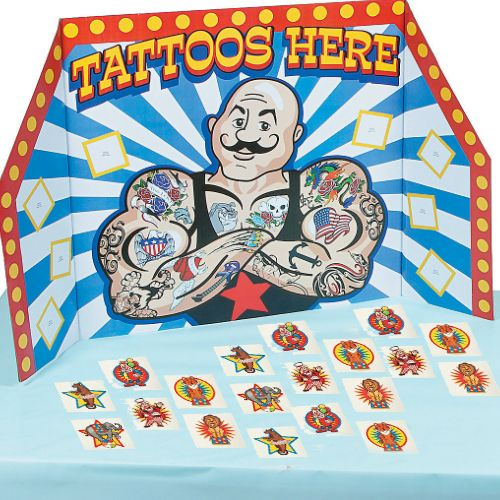 Carnival Jumbo Tattoo Station w/72 Tattoos Party Supplies Canada - Open A Party