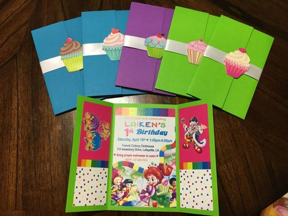 CANDY LAND INVITATIONS by InvitationsByAlicia on Etsy