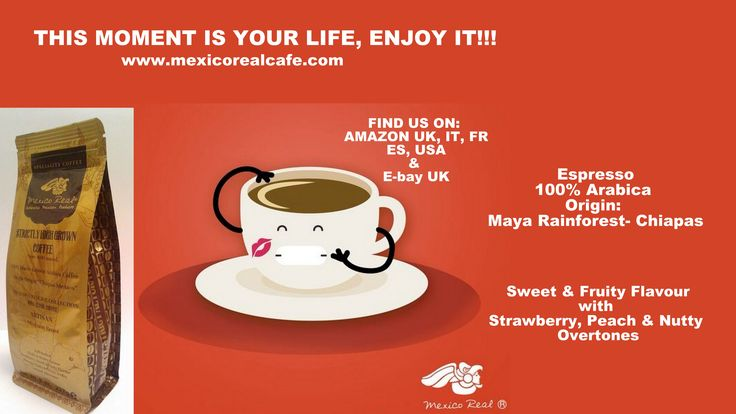 ENJOY LIFE NOW, THIS IS NOT A REHEARSAL! Espresso 100% Arabica Single Origin Chiapas Mexico Maya Rainforest. Medium Roast. Available on Amazon USA, UK, ITALY, FRANCE, ESPAÑA. https://www.amazon.com/Mexico-Real-Cafe-Speciality-Rainforest/dp/B018WLD5GY/ref=sr_1_1_a_it?ie=UTF8&qid=1497064365&sr=8-1&keywords=mexican+coffee+maya+elixir www.mexicorealcafe.com #america #usa #europe #spain #españa #italia #coffee #espresso #gourmet #france #uk #singleorigin #chiapascoffee #cafe #caffe #frapuccino…