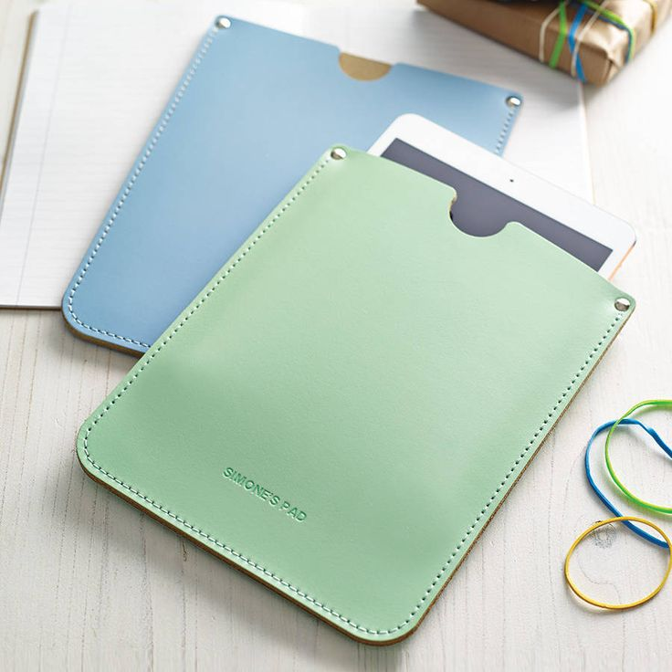 Personalised Leather Sleeve For iPad from notonthehighstreet.com