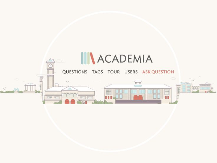 Academia illustration by Stephane Martin for Stack Exchange