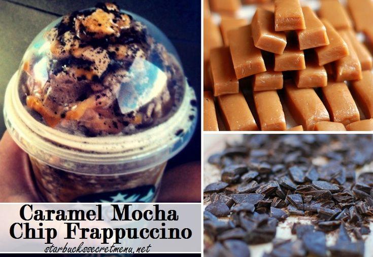Starbucks Caramel Mocha Chip Frappuccino! #StarbucksSecretMenu Recipe here: http://starbuckssecretmenu.net/caramel-mocha-chip-frappuccino-starbucks-secret-menu/