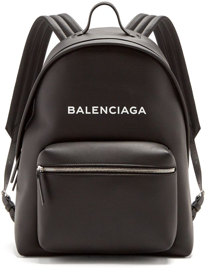 4cc7c15de829 BALENCIAGA Everyday logo-print leather backpack   Bag It - Purses ...