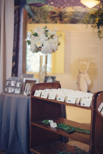 Escort cards: http://www.stylemepretty.com/maryland-weddings/baltimore/2015/05/27/black-tie-baltimore-library-wedding/   Photography: Audra Wrisley - http://audrawrisley.com/