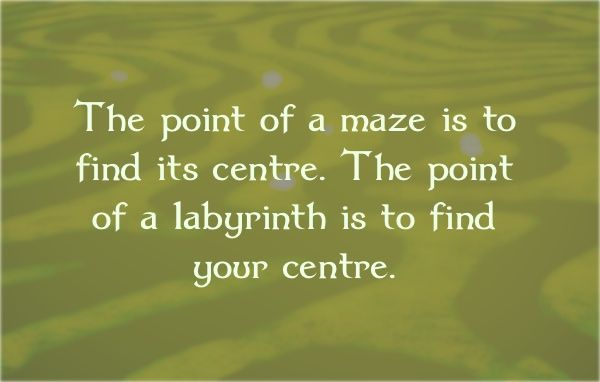 The difference between a maze and a labyrinth.                                                                                                                                                                                 More