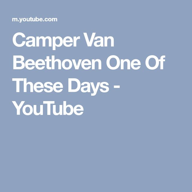 Camper Van Beethoven One Of These Days - YouTube