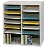 Found it at Wayfair - Small Wood Adjustable-Compartment Literature Organizer