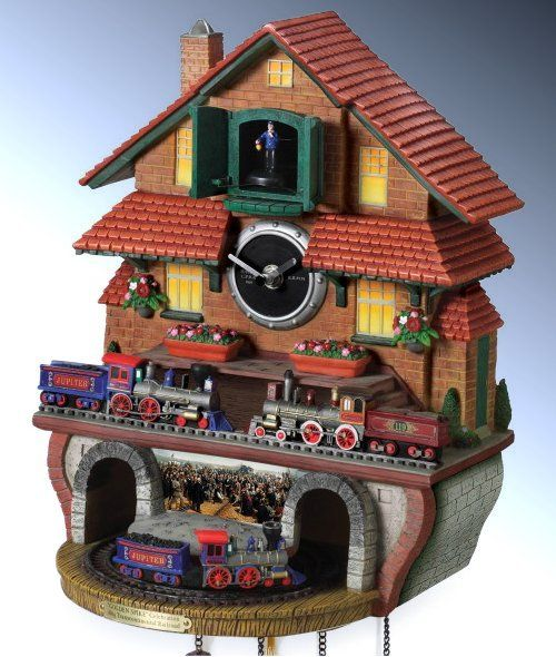 1000 images about cuckoo clocks on pinterest flying scotsman guardians of ga 39 hoole and clock - Motorcycle cuckoo clock ...