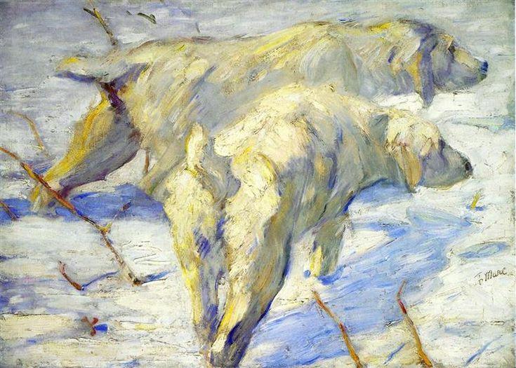 Siberian Sheepdogs - Franz Marc 1910 (the artist was 30) 113 x 80 cm