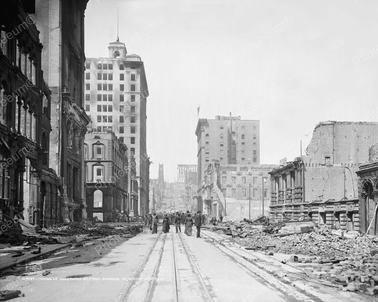 Earthquake San Francisco 1906 Vintage 8x10 Reprint Of Old Photo